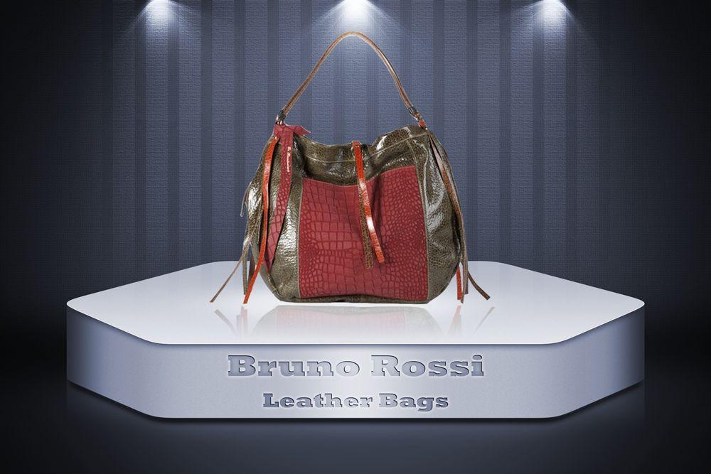8d6616b5246e Bruno Rossi Calf Leather bag
