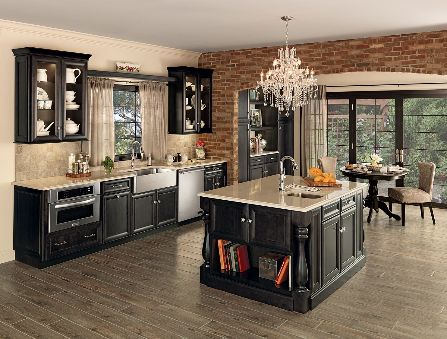 Classic Bayville Maple Dusk Kitchen Galley Kitchen Design Kitchen Remodel Merillat Cabinets