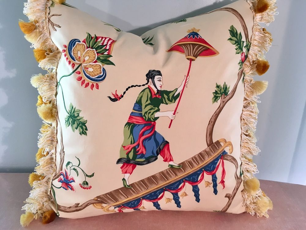 Scalamandre Ming Circus Chinoiserie With Silk Trim