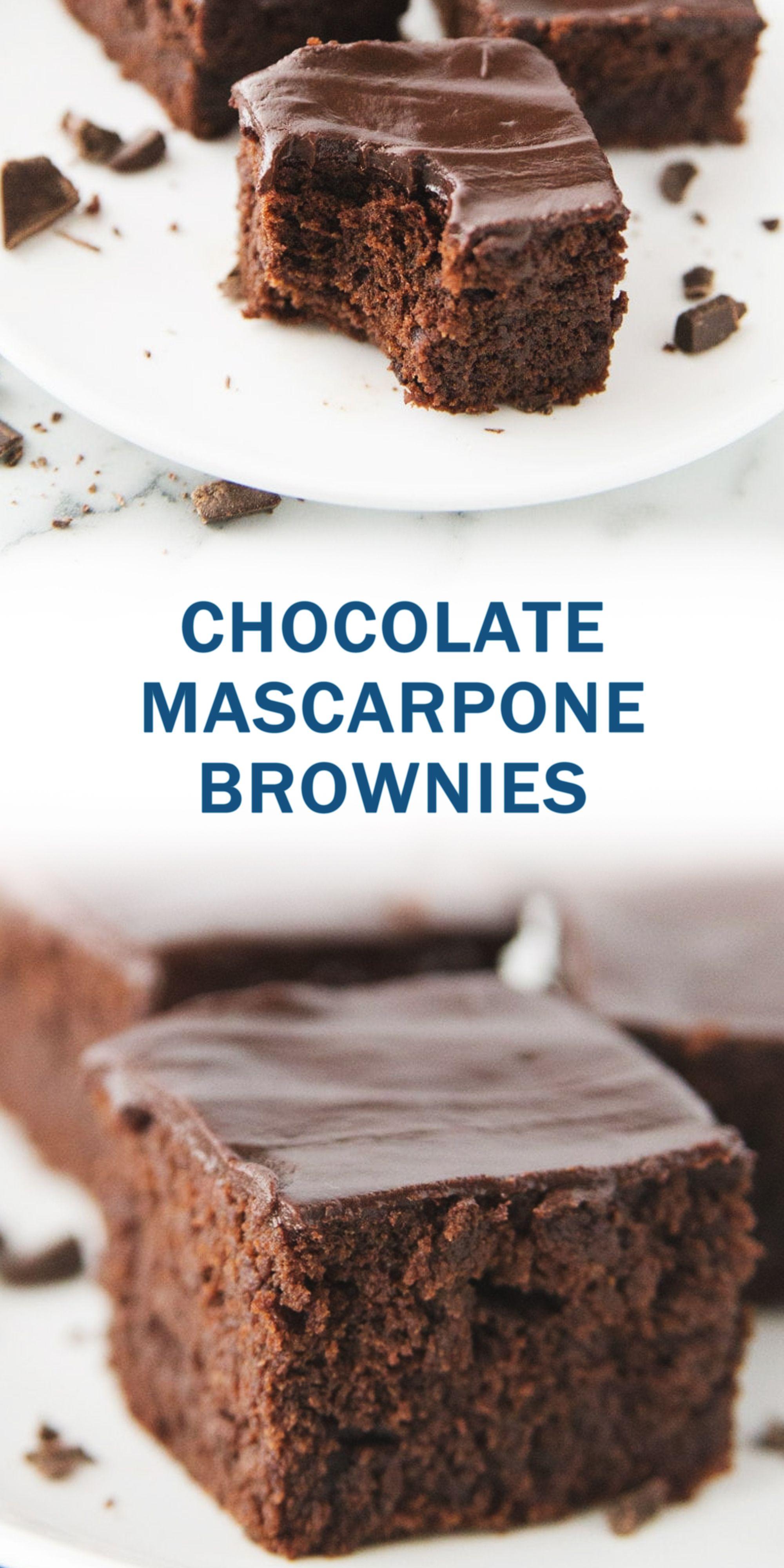 CHOCOLATE MASCARPONE BROWNIES en 2020 (avec images ...