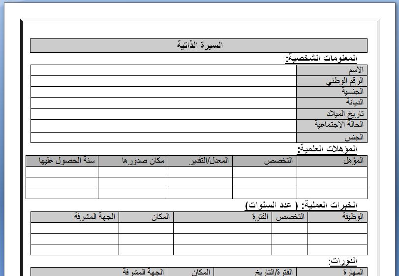 نموذج سيرة ذاتية وورد مختصرة Doc عربي وانجليزي Cv Infographic Resume Writing Essay