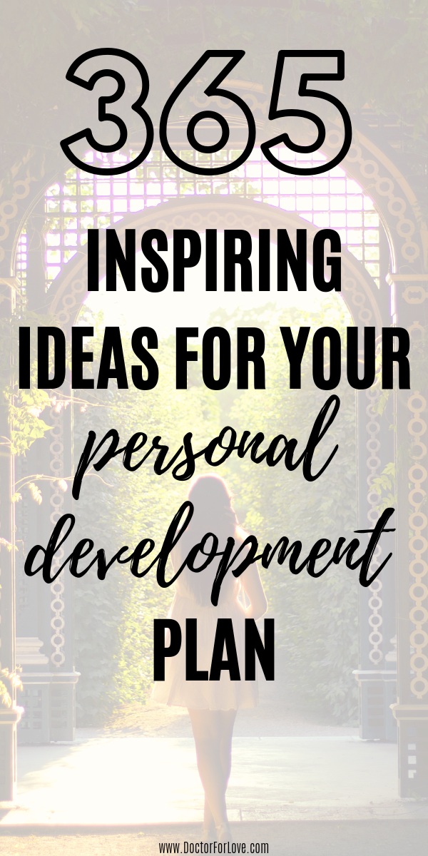 365 Self-Development Ideas for Your Personal Development Plan