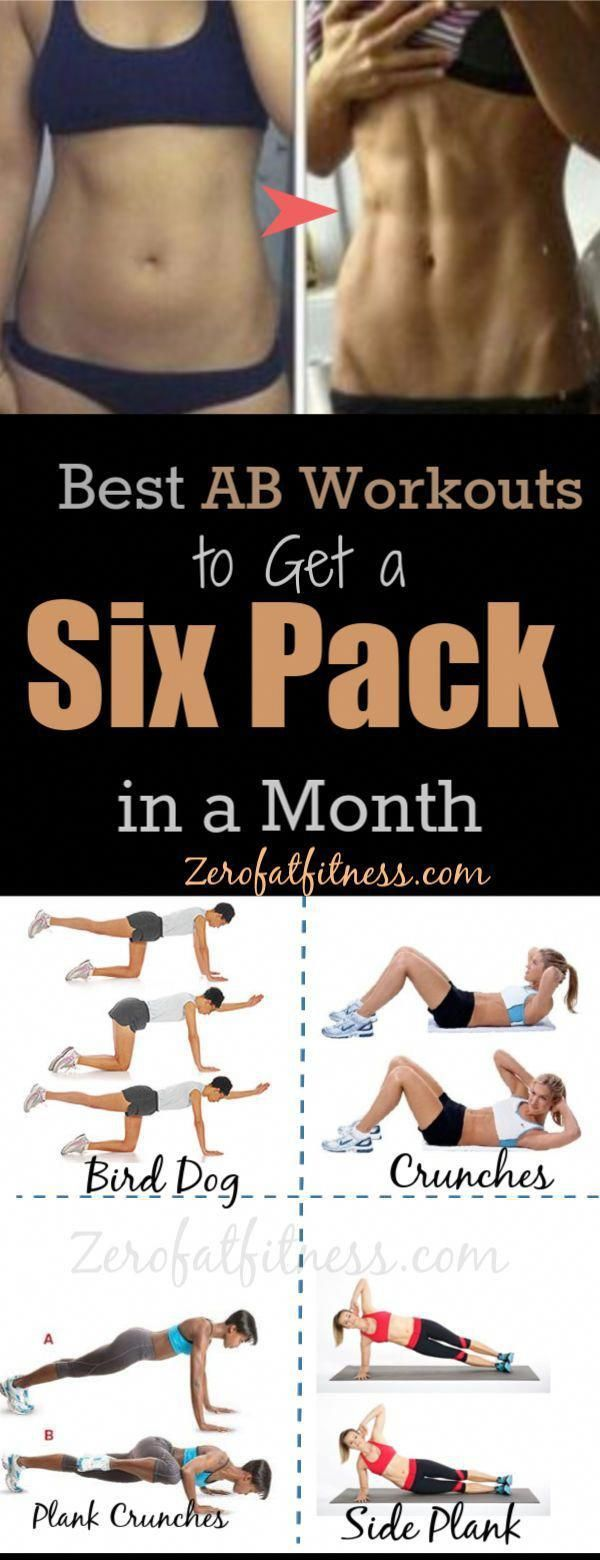 11 Best Ab Workouts to Get a Six Pack Abs in One Month!