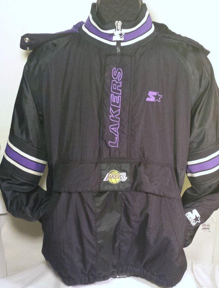 77162f928c6 Vintage Los Angeles Lakers Mens Size XL Pullover Starter Jacket  nba   Starter  LosAngelesLakers