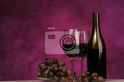 wall pictures of wine and grapes Wall Mural horizontal of wine bot