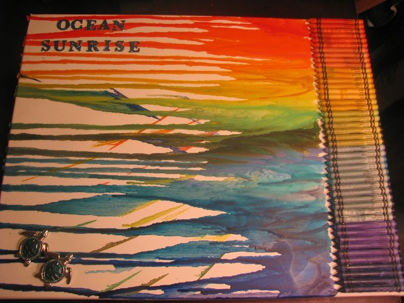 Do it yourself crayon canvas painting mine looks retarded but do it yourself crayon canvas painting mine looks retarded but hey solutioingenieria Image collections