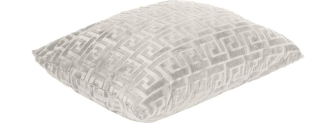 Zierkissen Maander Weiss Konventionell Textil 48 48cm Ombra Zierkissen Kissen Textil