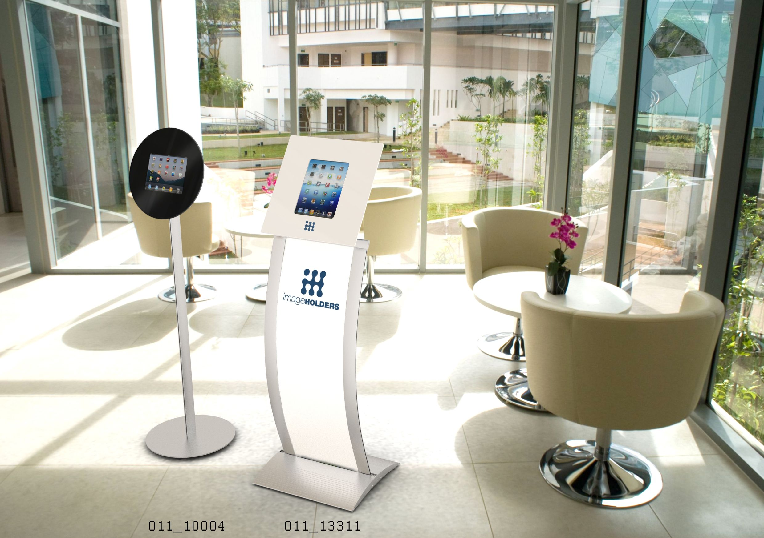 http://www.imageholders.com/uk/ipad-tablet-kiosks-enclosures.html  imageHOLDERS Floor Standing Interactive Display Stands and Tablet Enclosure