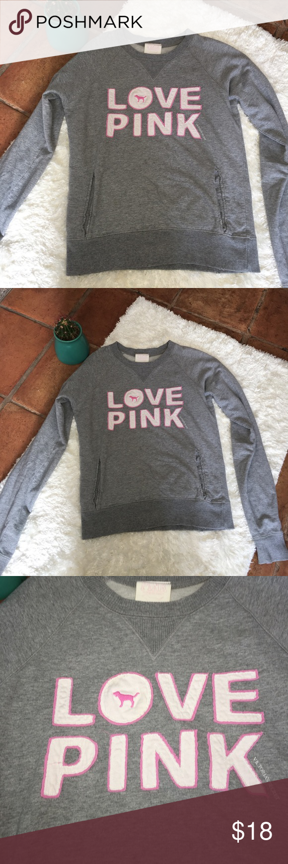 VS Pink 86 Crew Neck Sweater | Crew neck sweaters, vs Pink and ...