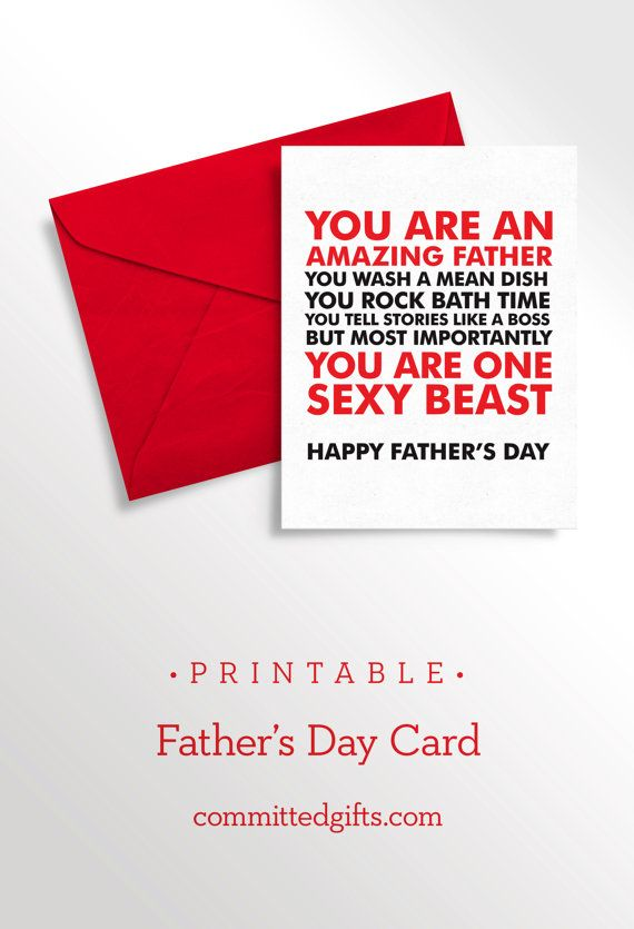 Printable Fathers Day Card For Husband