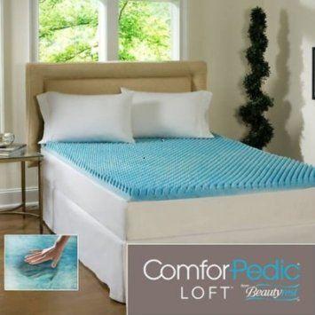 Beautyrest 2 Inch Sculpted Gel Memory Foam Mattress Topper