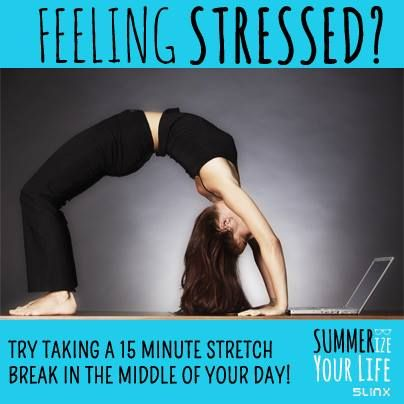 If you're feeling overwhelmed and flustered, try opting for a stretch break in the middle of your day! Whether you are at home or in the office, a few quick stretches can refresh your mind and your body! #5LINX #SUMMERize #yoga #meditate