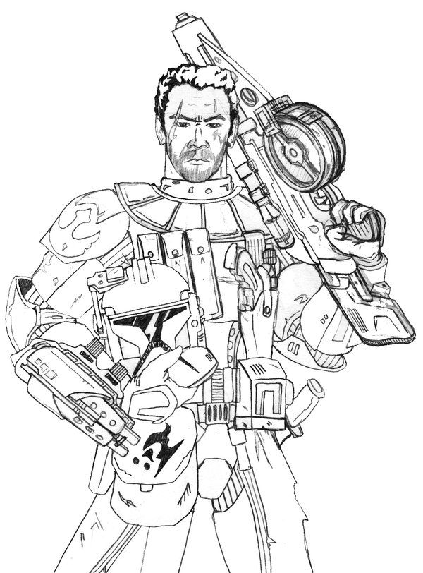 redline coloring pages | Rebel ARC Trooper line render | Star Wars Null Arcs & Arc ...