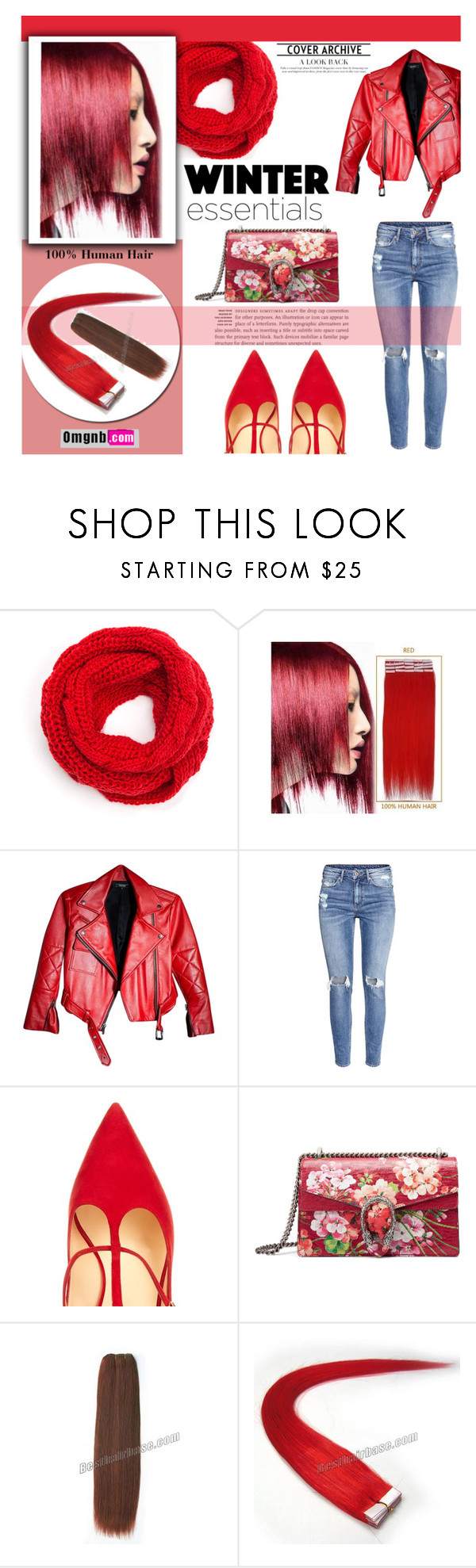 """Omgnb"" by smasy ❤ liked on Polyvore featuring Red Tape, H&M, Christian Louboutin, Gucci and omgnb"