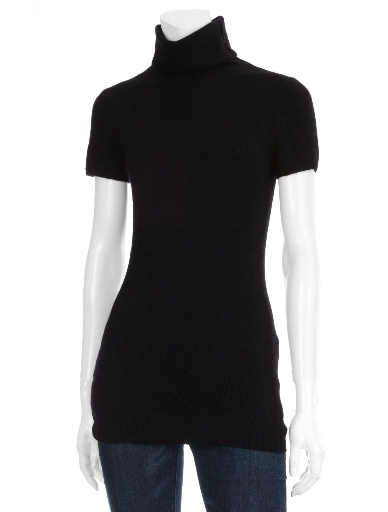 Short Sleeve Turtleneck Sweater by SCOOP | Women - THE BASICS ...