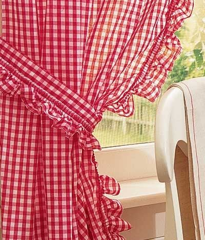 Image Detail For Gingham Ruffled Curtains Ventanas