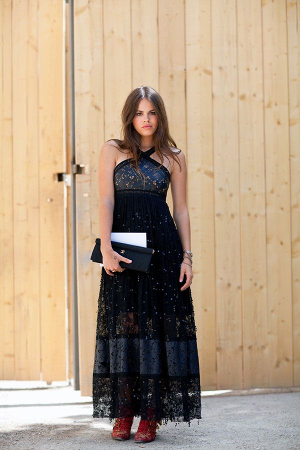 Love the dress! Fall 2012 Couture Street Style - Paris Couture Street Style Photos - Harper's BAZAAR