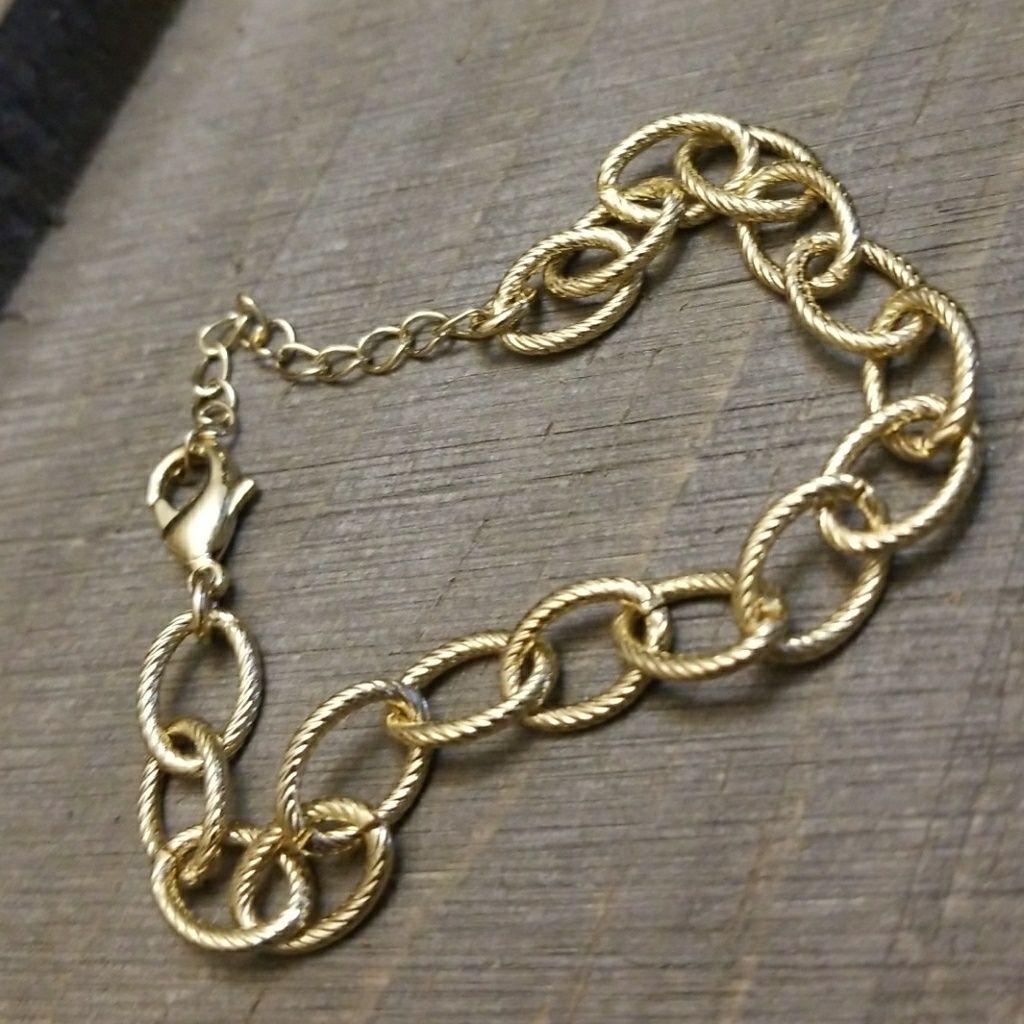 Gold Jbloom Charm Bracelet