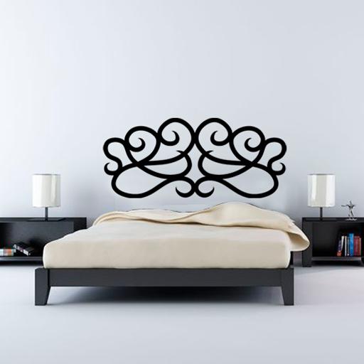 Vinilo decorativo para cabecero de cama con motivos for Vinilos decorativos pared baratos