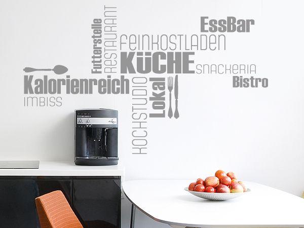 Wandtattoo Wortwolke Küche Restaurant Wandtatoo Pinterest
