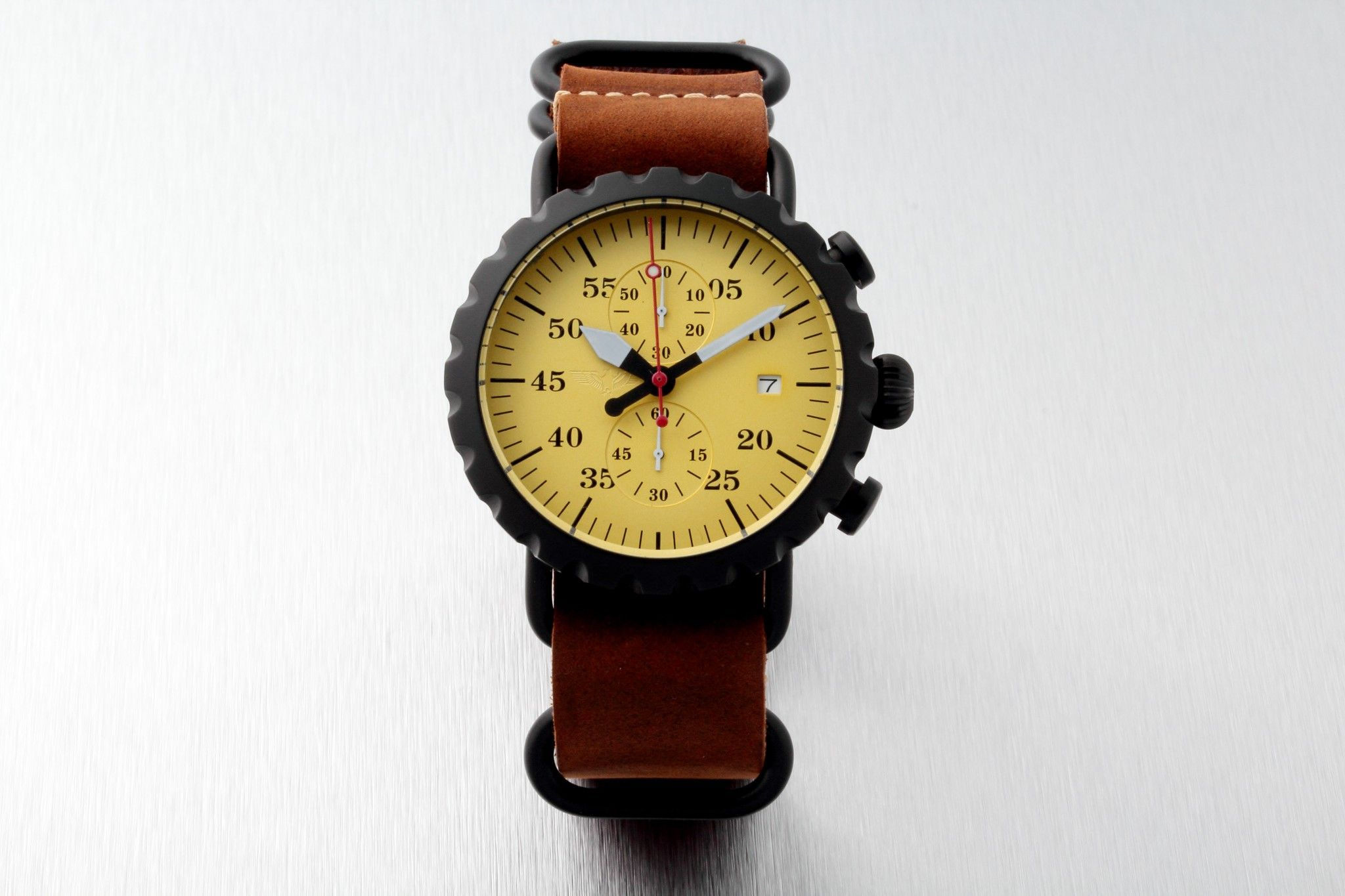 Genesee Watch Co Peregrine Squadron pilot chronograph aviator watch with Tokki…
