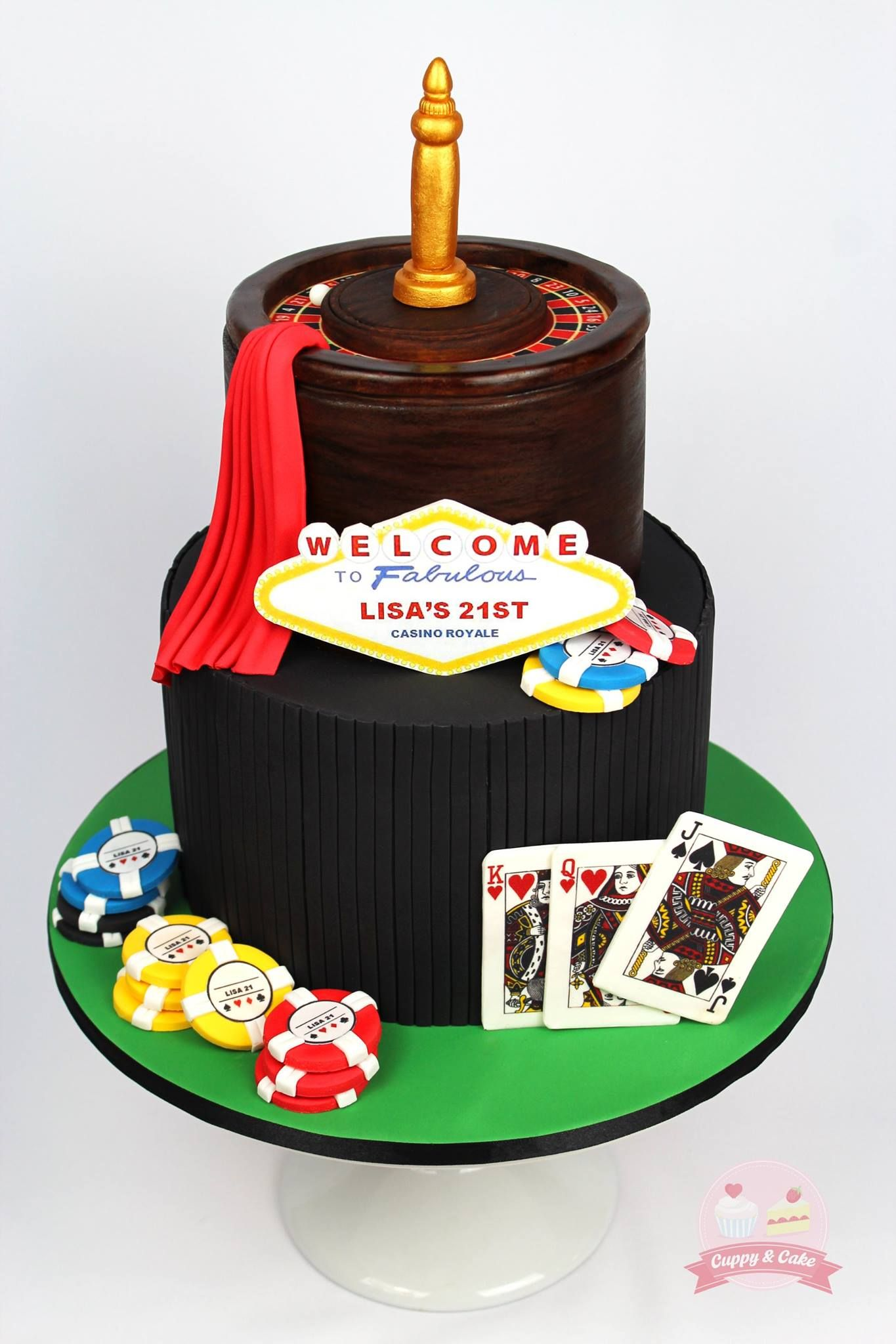 Casino royale themed cake