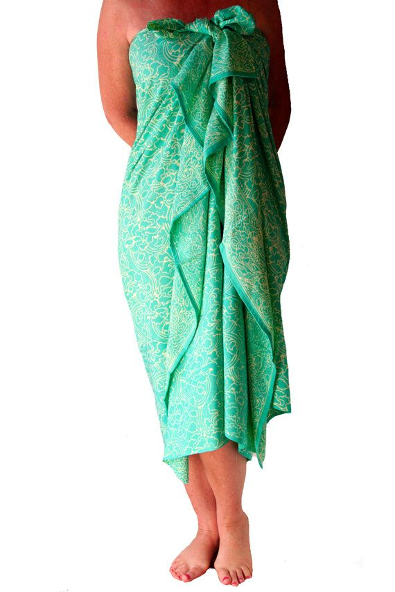Sale Plus Size Tropical Sea Green Sarong Womens By Puawear Dress Cover Swimwear Cover Ups Plus Size Black Swimsuit