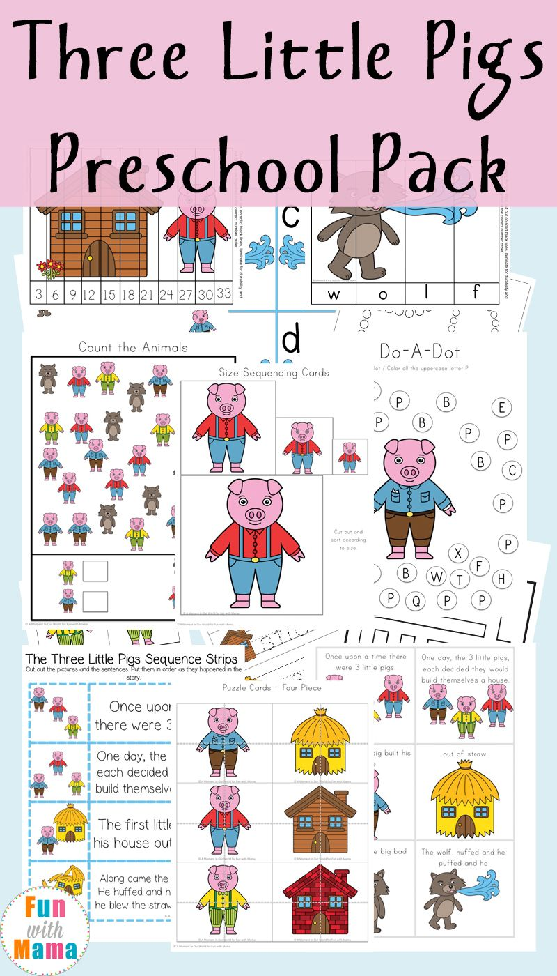 Three Little Pigs Printable Pack   Pre-school, Maths and Activities