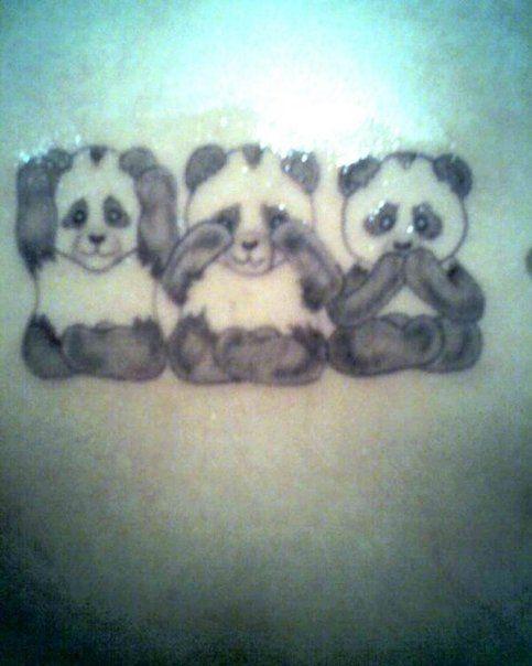 panda tattoo cute idea love my pandas | Panda tattoo ... - photo#24