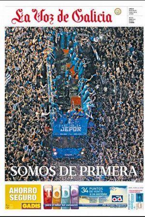 La Voz Una Portada Para Enmarcar La Voz A Coruña Portadas