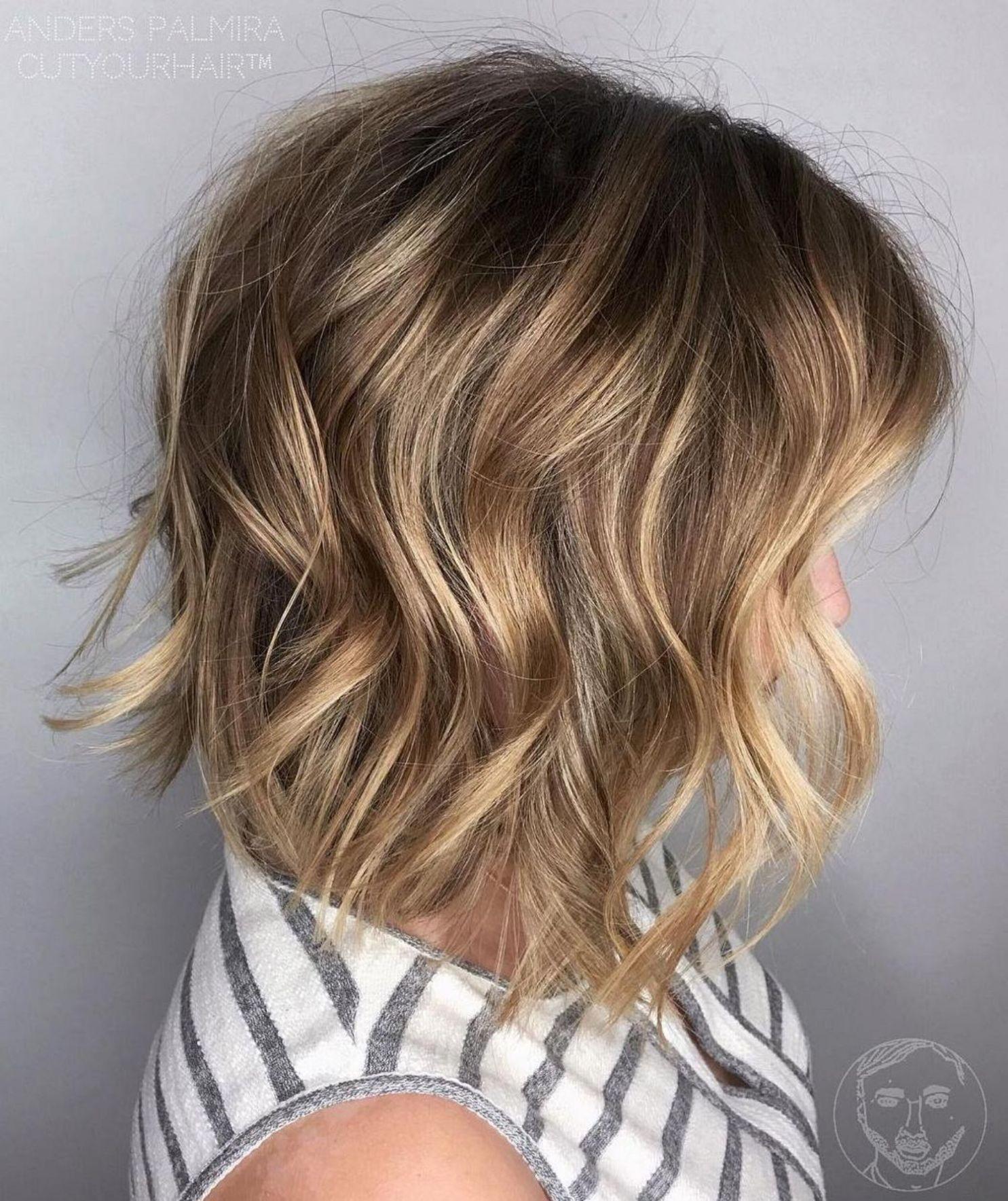 Wavy Lob For Fine Hair  Medium length hair styles, Medium hair