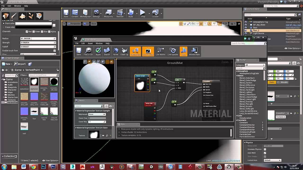 Vertex Painting in Unreal 4 - part 1 | Neat Game Development