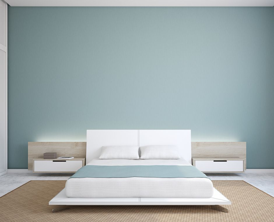 chambre pur e et zen en bleu gris chambre pinterest bleu gris purer et zen. Black Bedroom Furniture Sets. Home Design Ideas