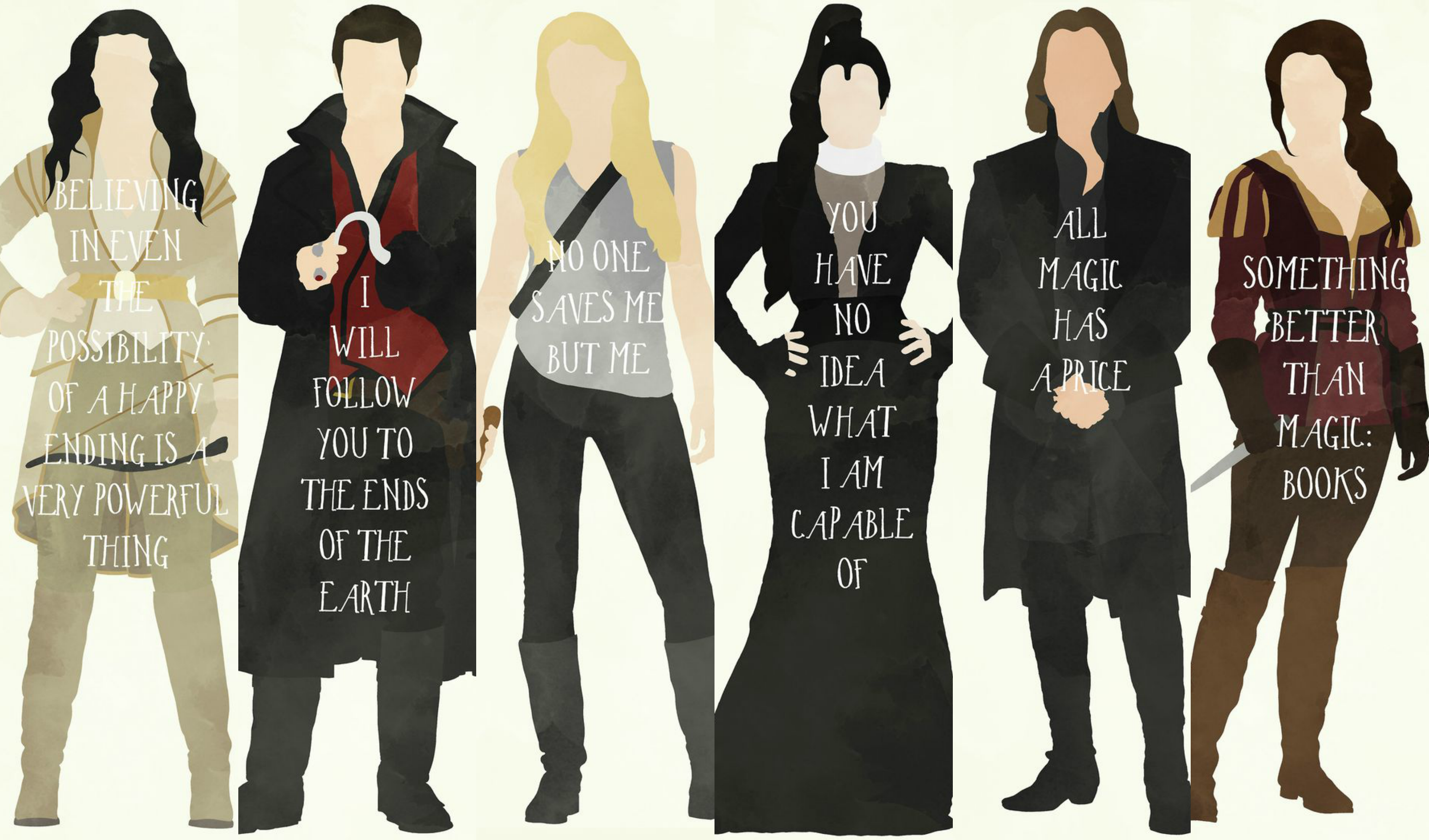 Once Upon A Time Wallpaper 3 Characters With Quotes Snow White