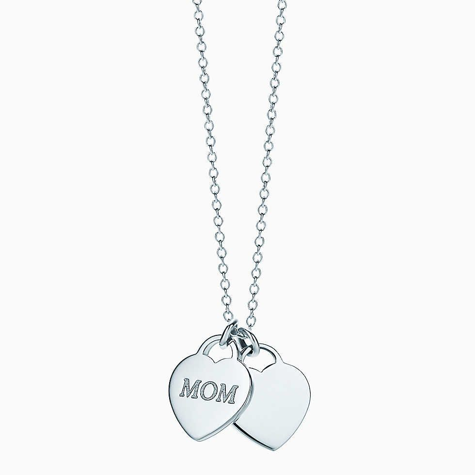 Mom heart tag pendant in sterling silver mini gifts
