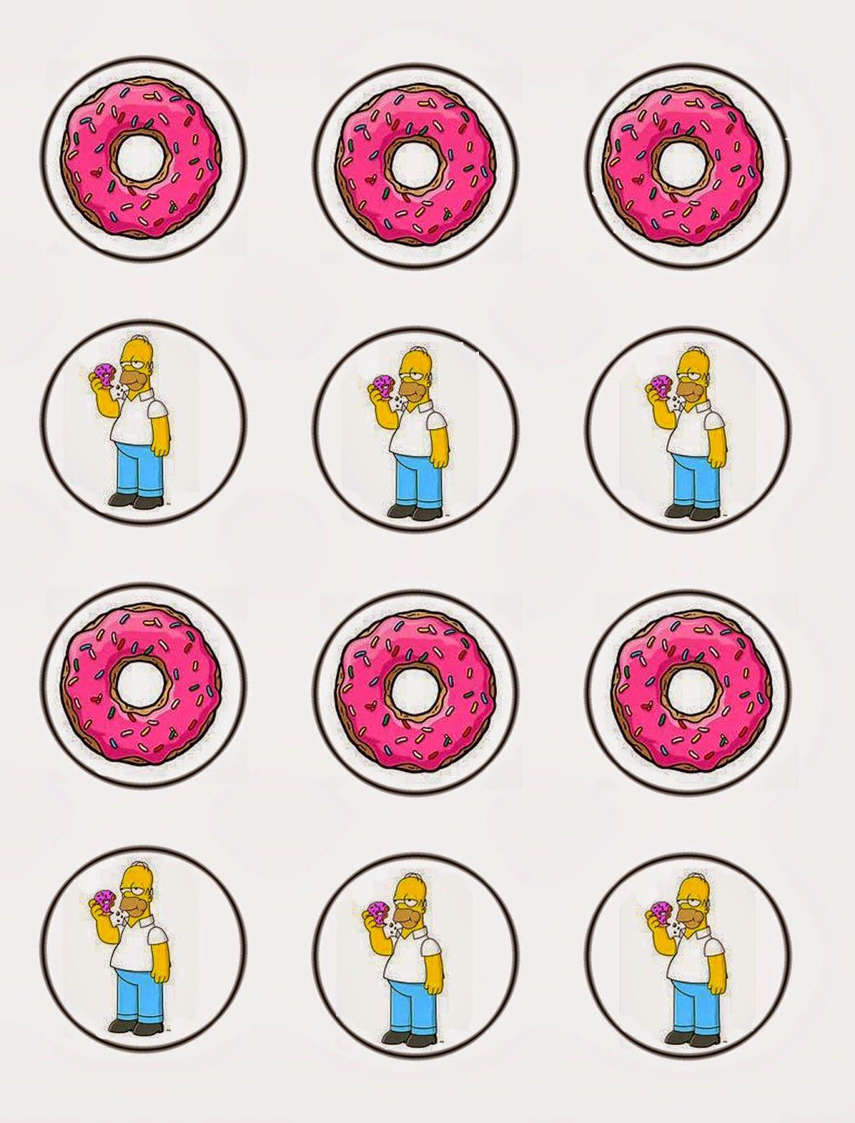 Los Simpson: Invitaciones, Tarjetas, Toppers y Stickers para ...