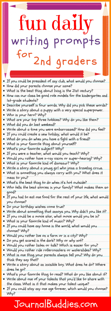 Fun Daily Writing Prompts for Second Graders
