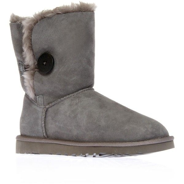 B Button Grey Ugg Australia Grey ($255) ❤ liked on Polyvore featuring shoes,