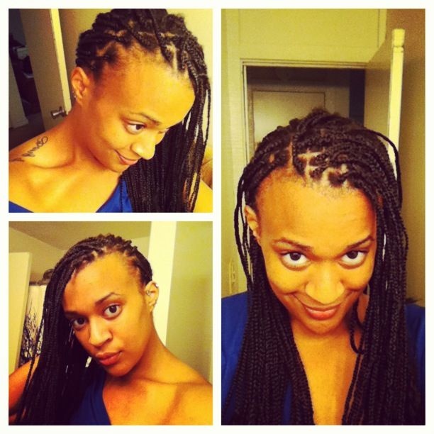 If you are rocking braids, whether you do it yourself or not. KEEP YOUR EDGES TOUCHED UP. It helps you retain growth and keeps your protective style looking fresh. #naturalhair #schmidtshairjourney