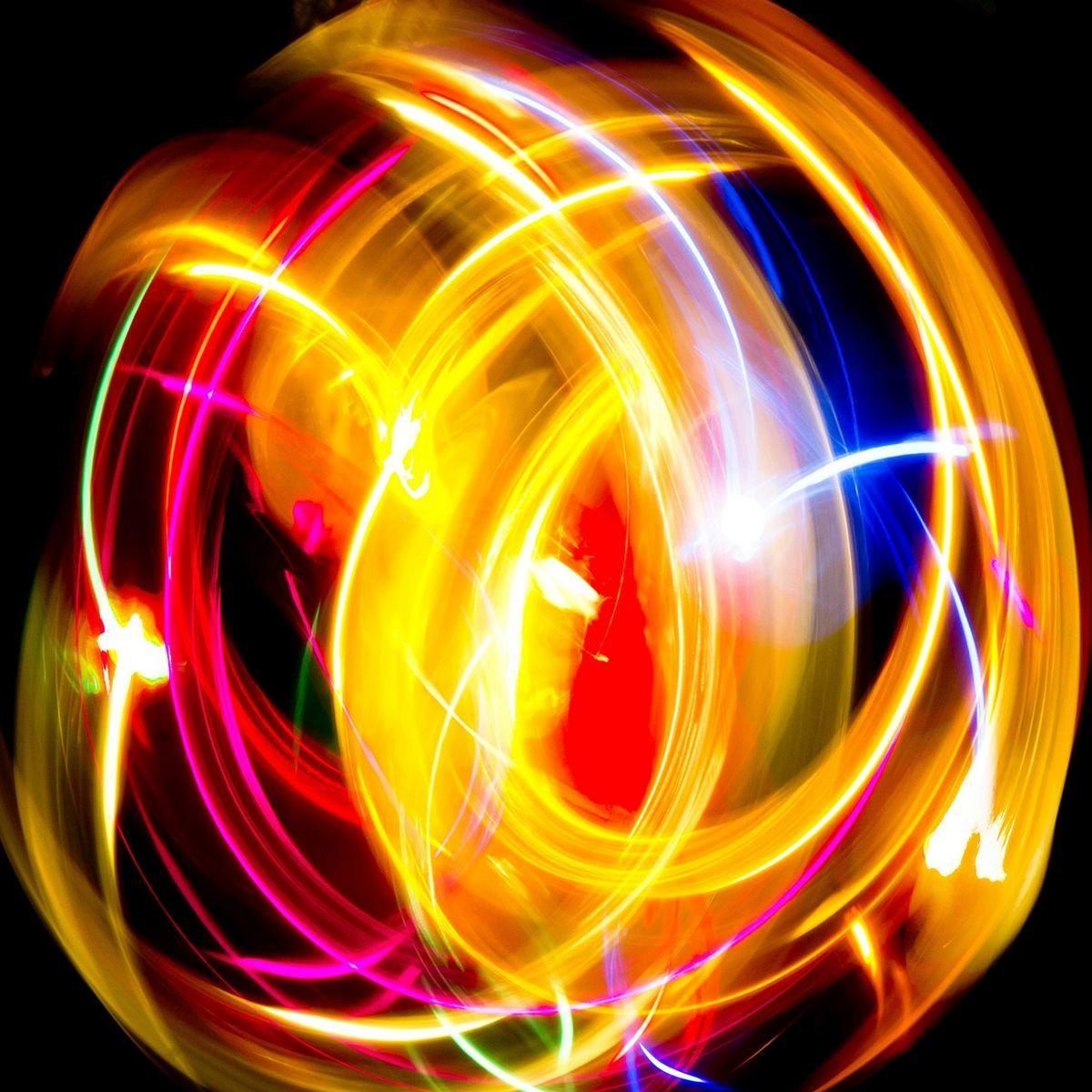 Vortici colorati Misure 50x50 Led lighting Vortici