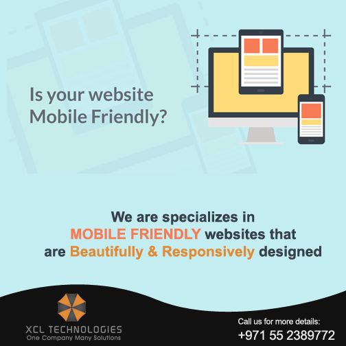 XCL Technologies specializes in mobile friendly websites that are beautifully & responsively designed. We produce amazing content that is search engine optimized.  For all your website designing requirements at the most competitive rates in the market with highest quality assurance.  please contact us at marketing@xcltechnologies.com Or Call us at +971 55 2389772