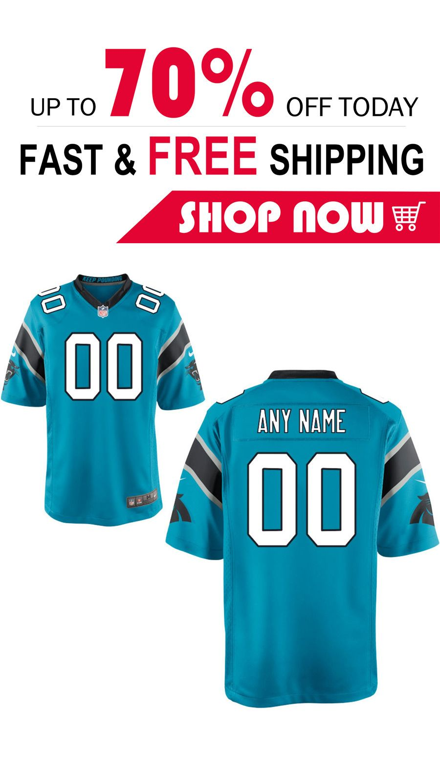 timeless design 1a554 25a92 2019 的 Carolina Panthers football custom Game jersey 主题 ...