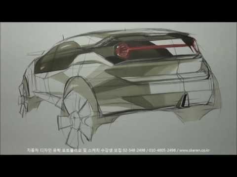 자동차 스케치 & 디자인(SUV Rear)