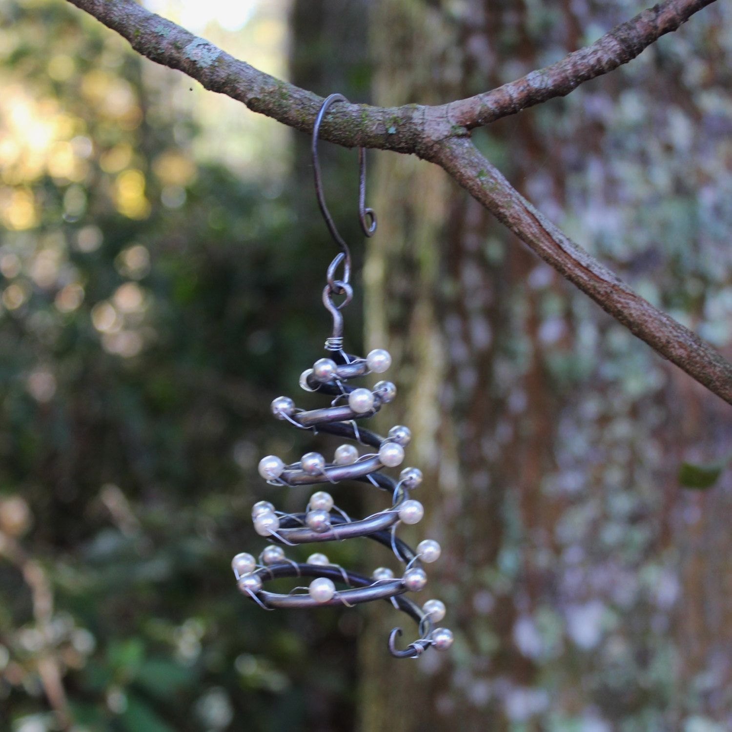 Hand forged Iron Christmas Tree Ornament with by NancyFeDesigns ...