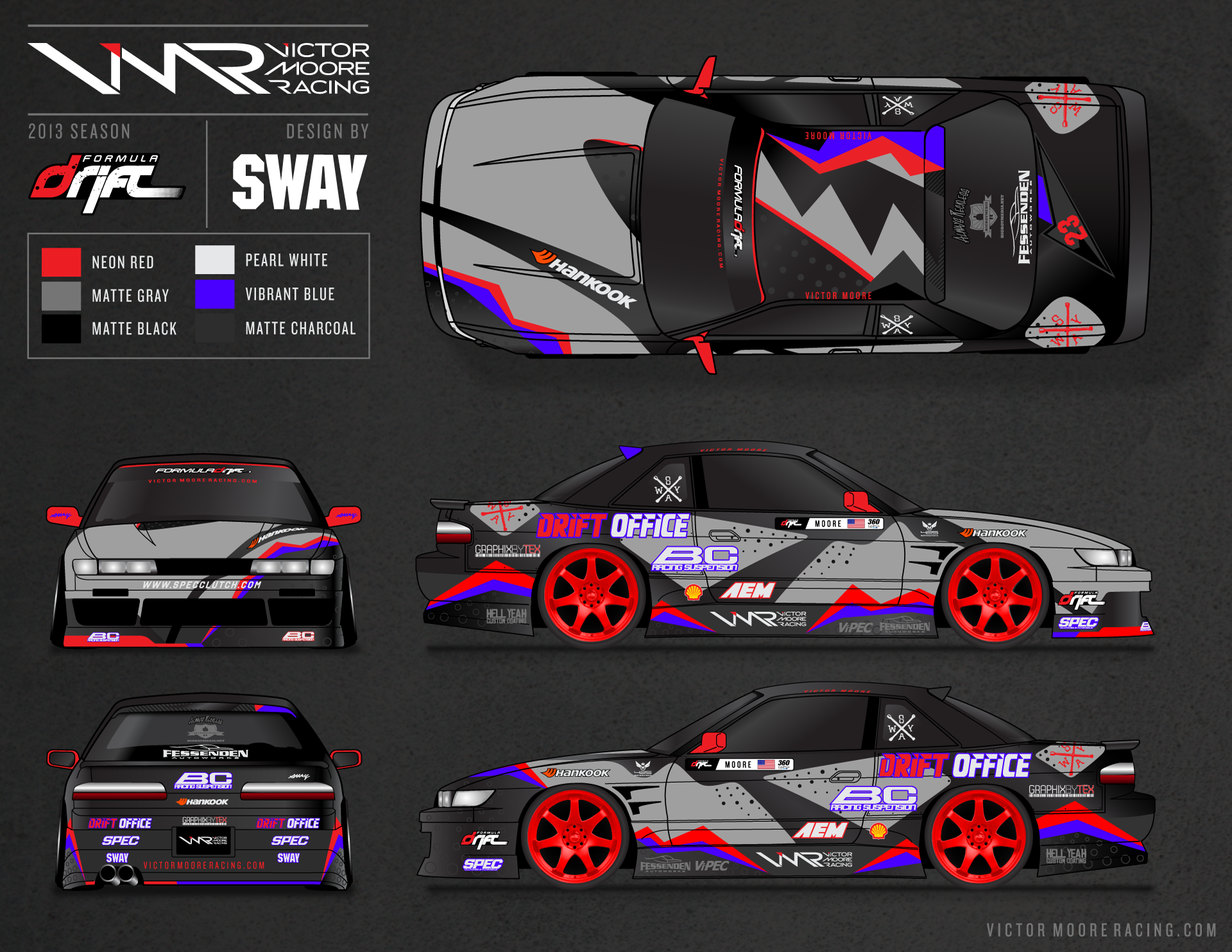Race car sticker design - Victor Moore Returns To Formula Drift And Reveals New Drift Car Livery Race Designsvehicle