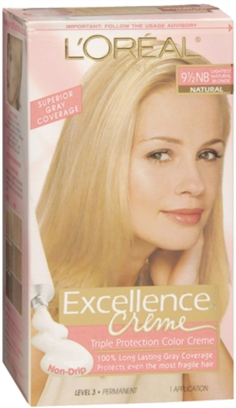 L Oreal Paris Excellence Creme Triple Protection Color Natural Lightest Blonde 9 1 2 Nb Read More Reviews Of The Product By Loreal Loreal Paris Hair Levels