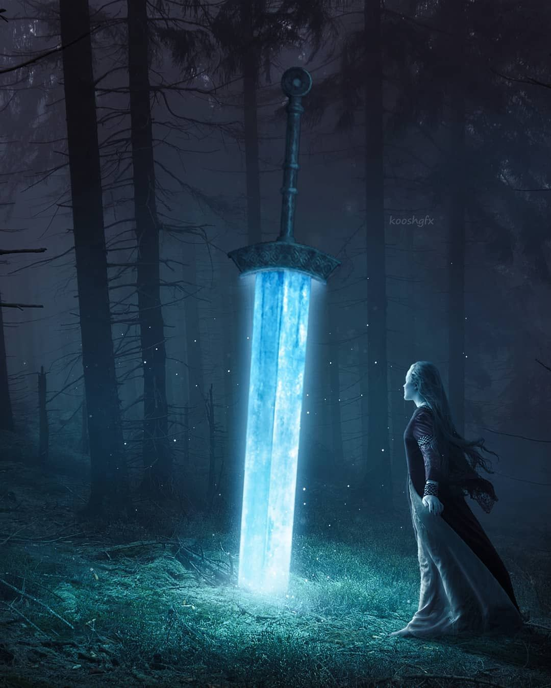 Mystical Sword Art By Kooshgfx Galaxy Phone Wallpaper Alone Art Beautiful Nature Wallpaper