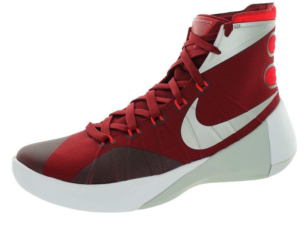 d9ee3daa8b36 Nike Men s Hyperdunk 2015 TB Basketball Shoe 749645 606 Red Silver White  Size 13  NikeAir