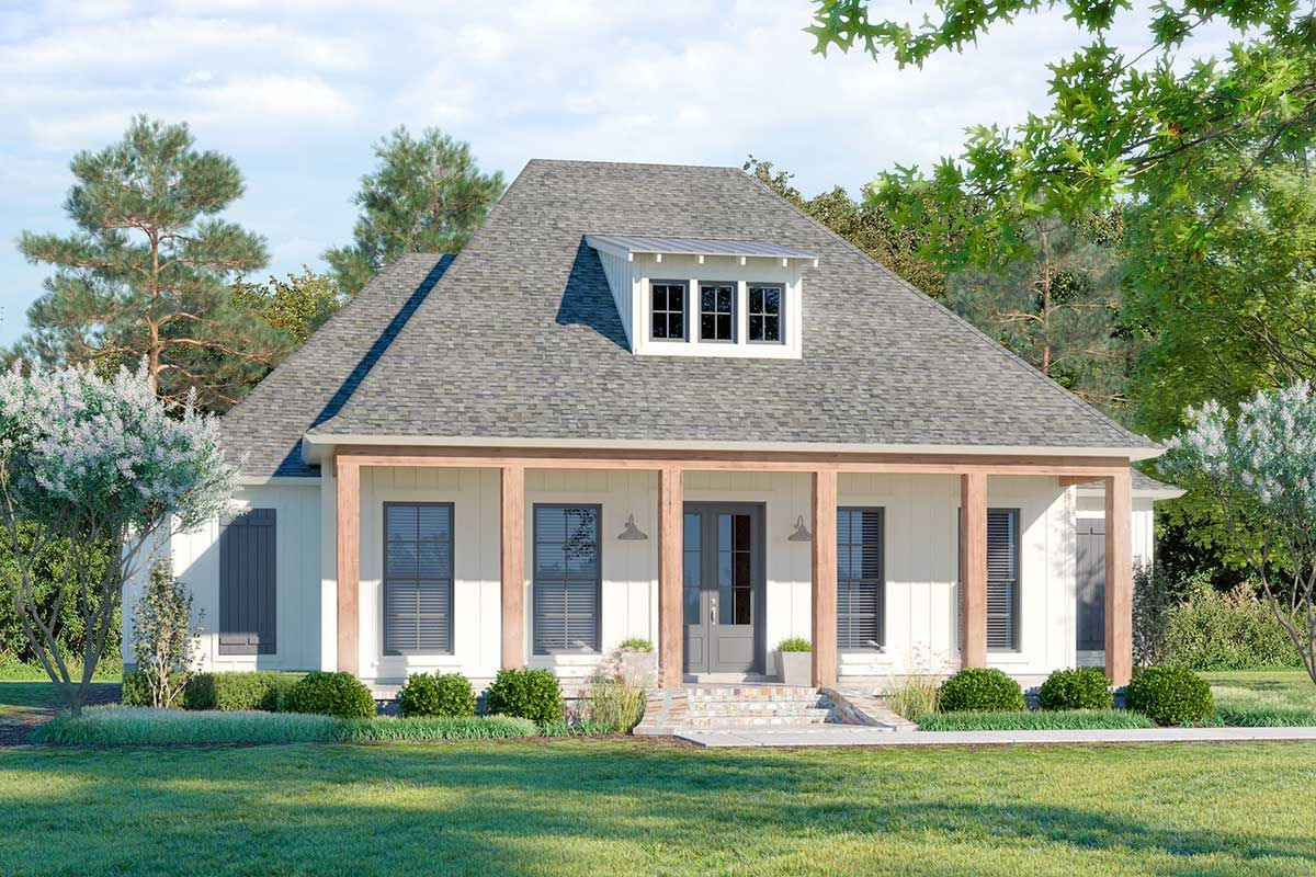 Plan 56435sm Southern Inspired 4 Bedroom House Plan With Inviting Front Porch In 2020 Southern House Plans House With Porch Porch House Plans