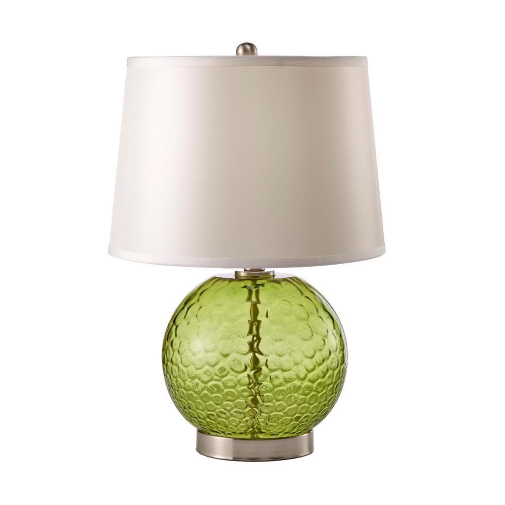Green Glass Table Lamp Home Decor Lighting Fixtures San Diego Tazz Lighting Lamp Table Lamp Light Table